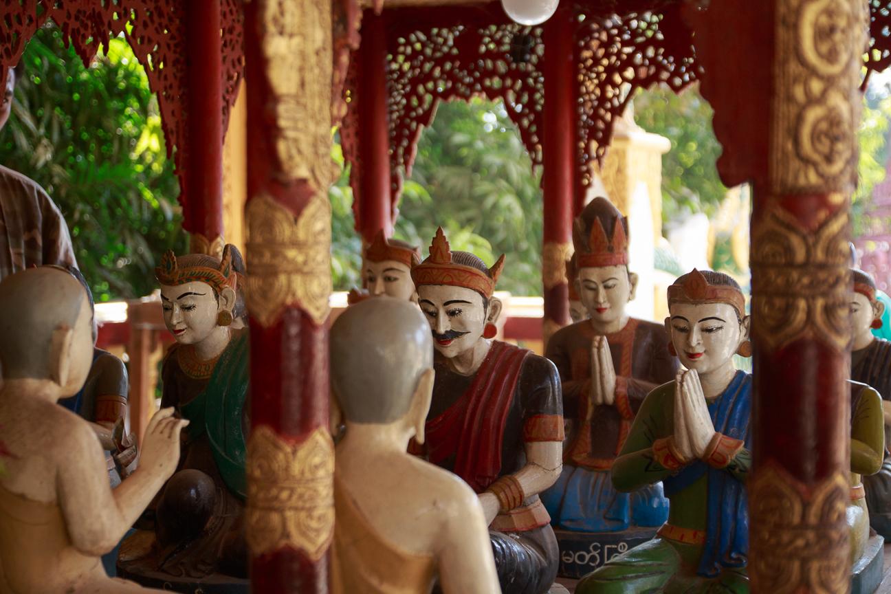Maqueta en Templo de Bagan