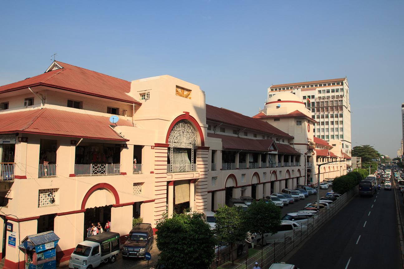 Mercado Bogyoke en Yangon