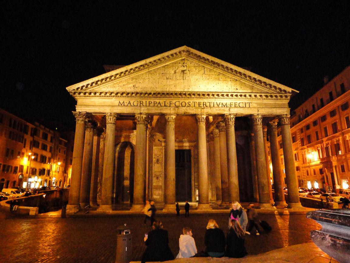Monumentos de Roma - Panteon de noche