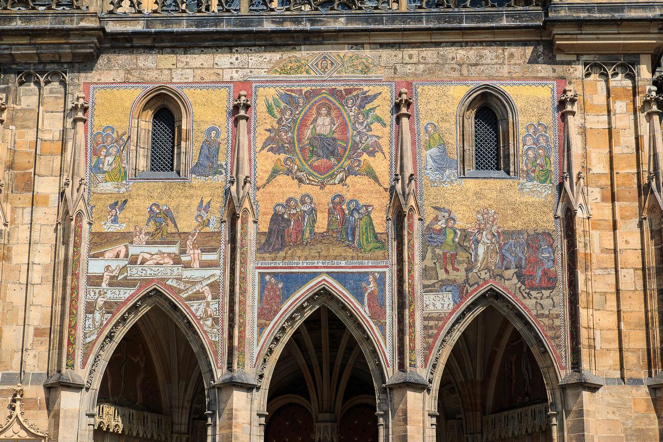 Mosaico de la Catedral de San Vito en Praga