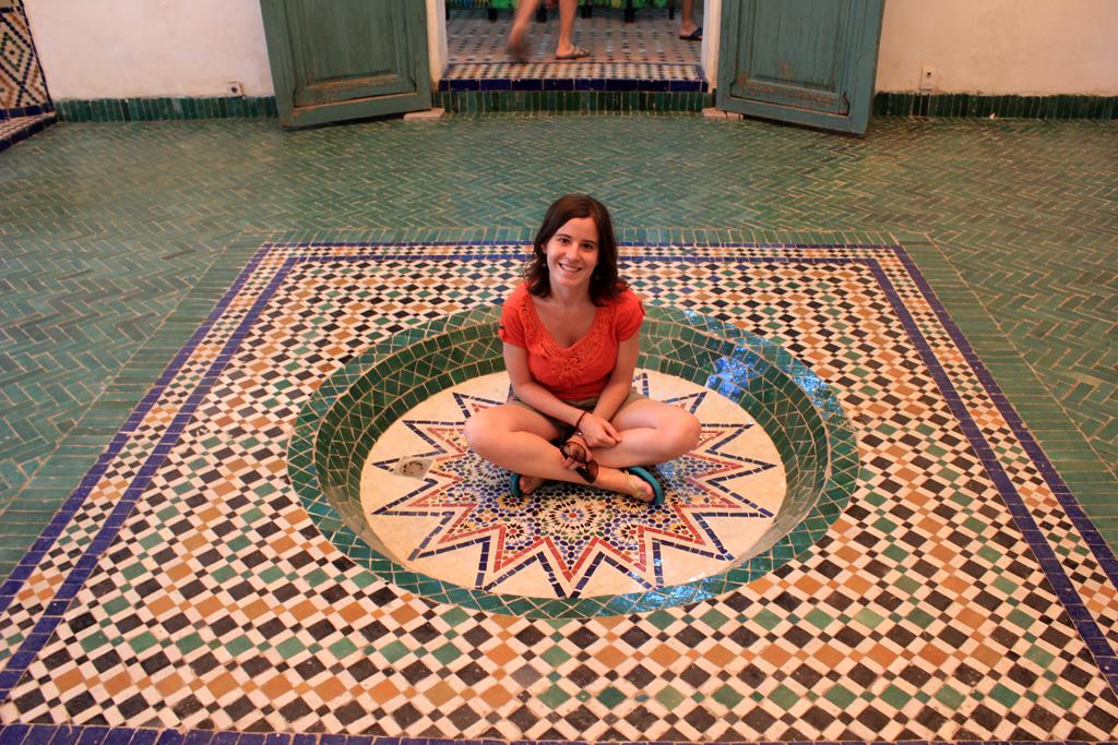 Mosaico suelo palacio del museo de Marrakech