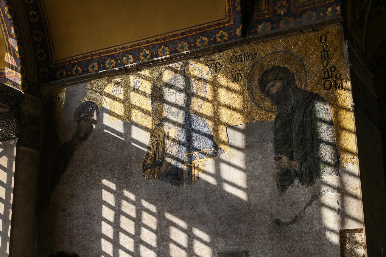 Mosaicos bizantinos en Santa Sofia