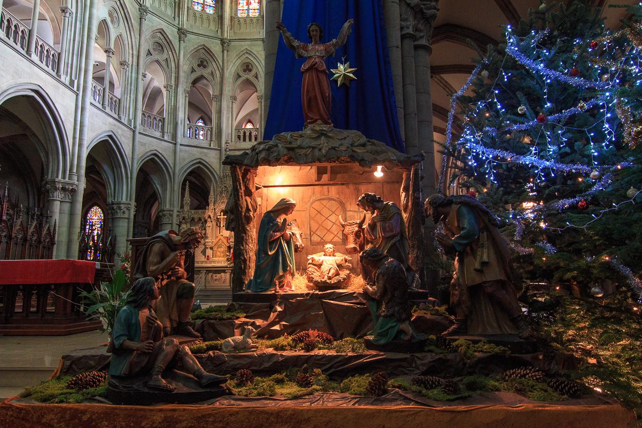 Pesebre en la Iglesia de Saint Etienne en Mulhouse