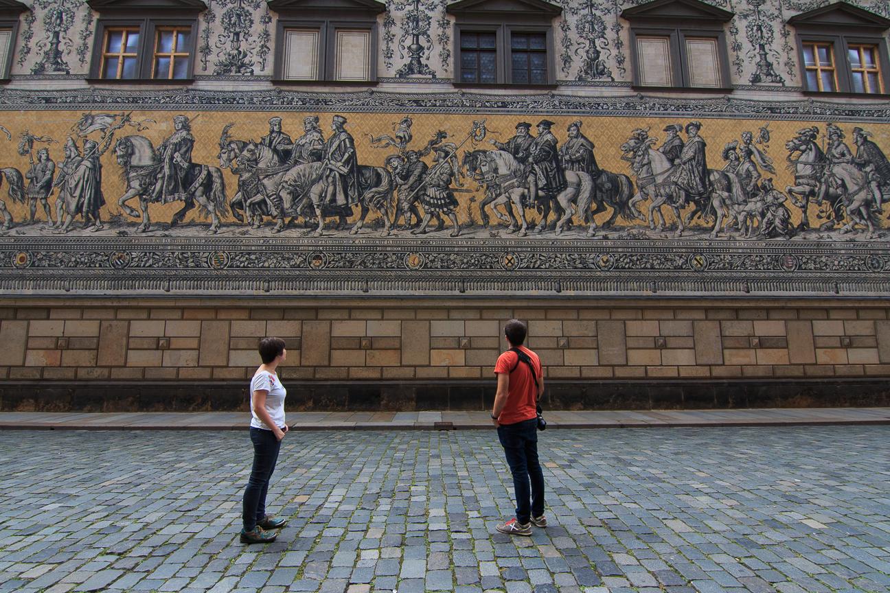 Mural del desfilo de los Principes en Dresde
