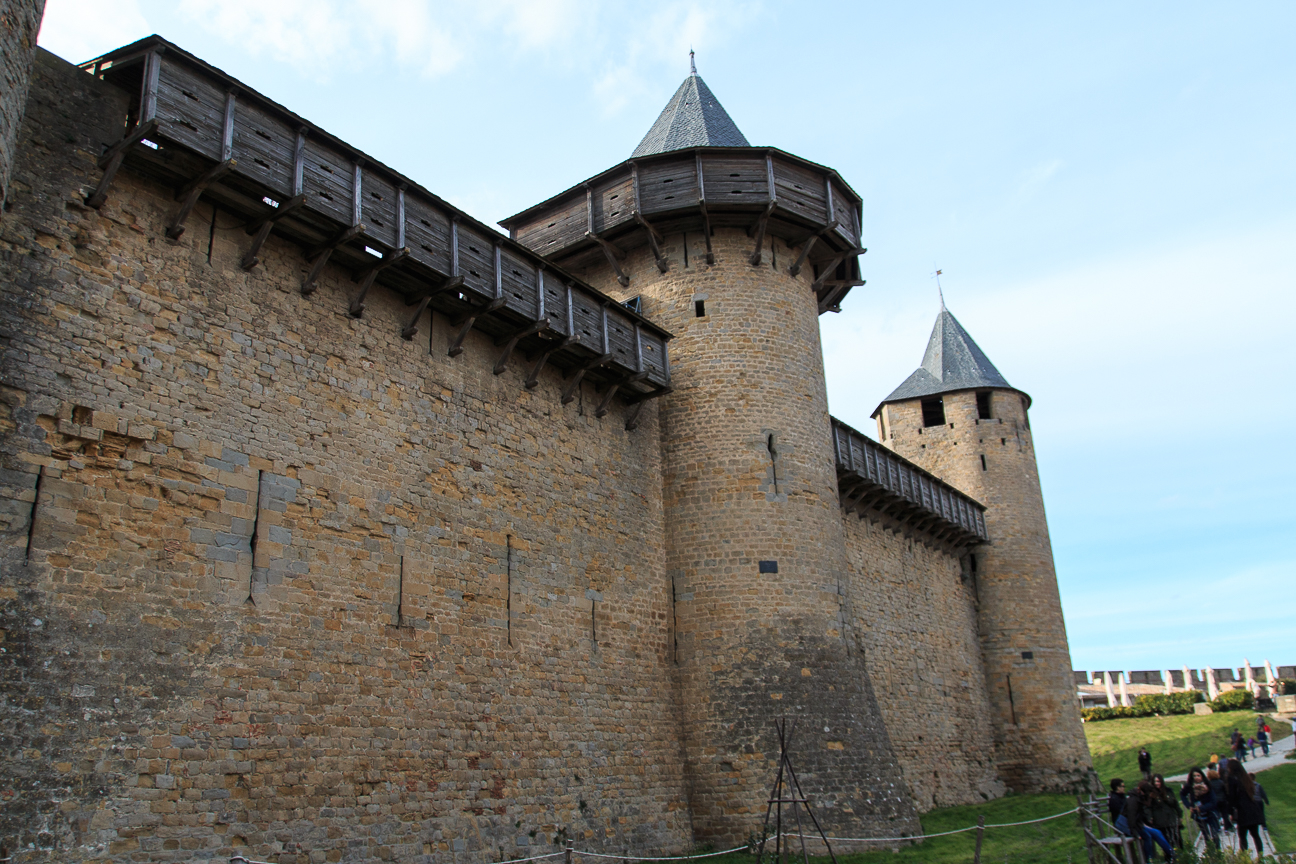 Muralla con almena en Carcassonne