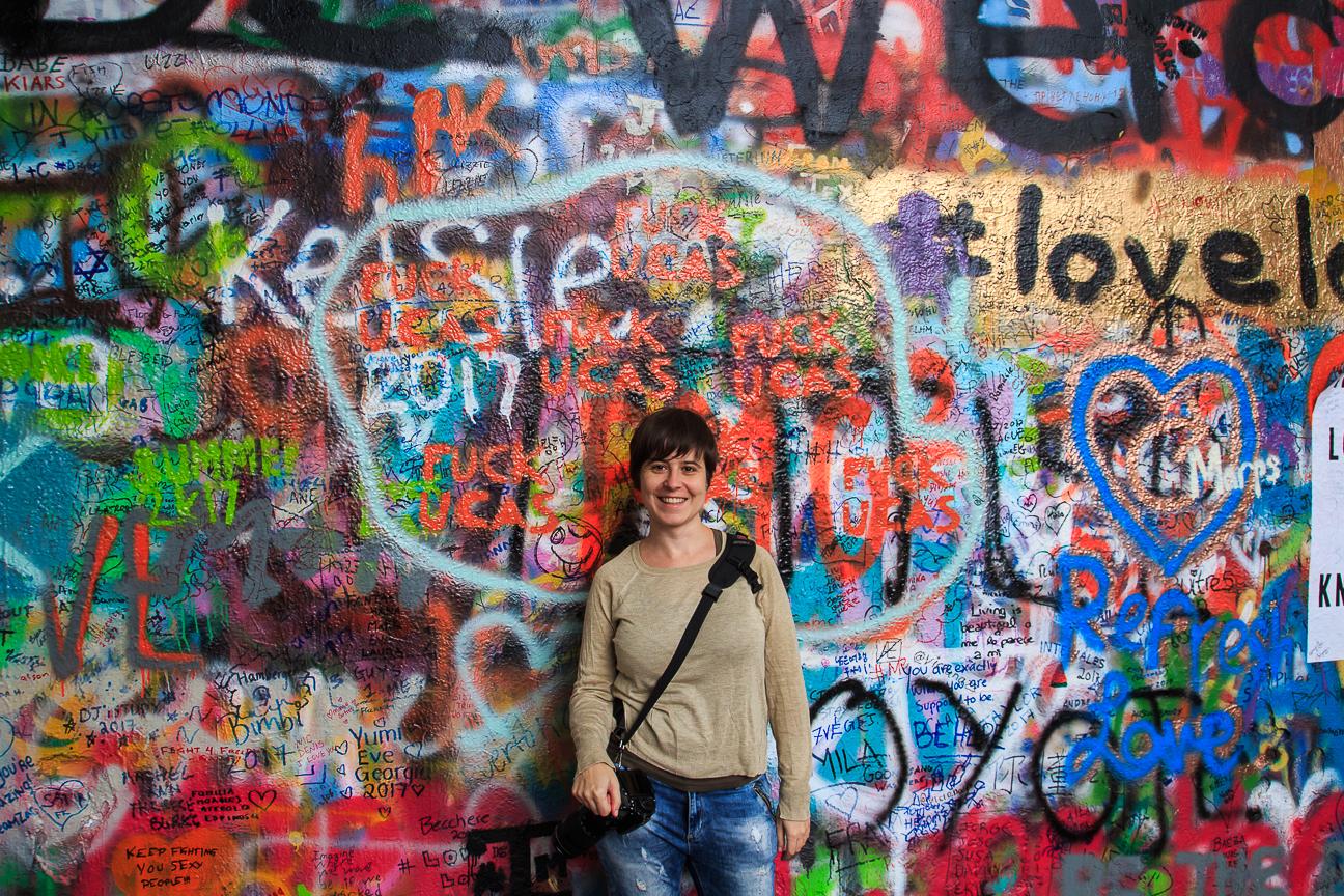 Muro John Lenon lo puedes ver en Praga