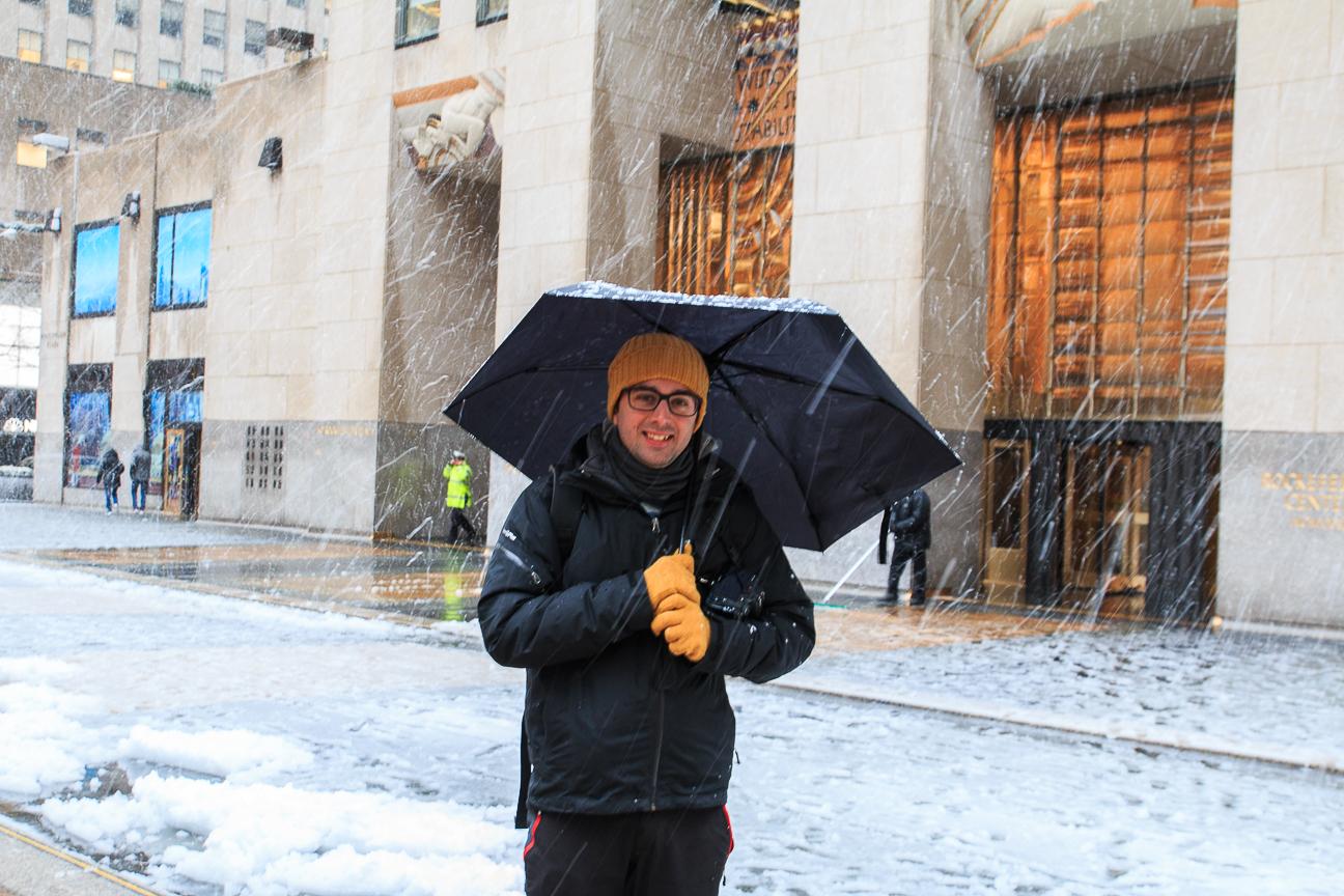 Nevando en Nueva York