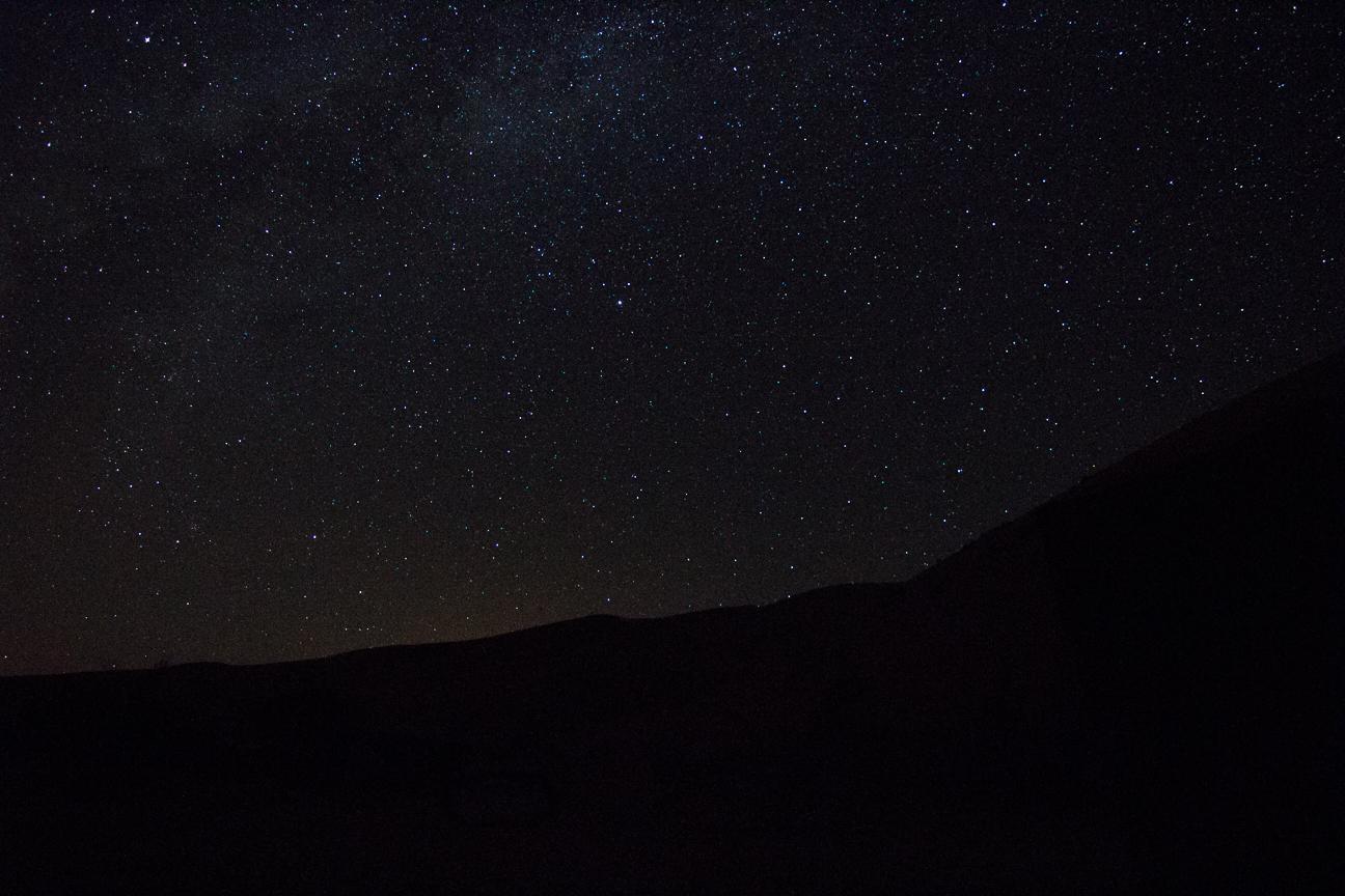 Noche estrellada en el desierto