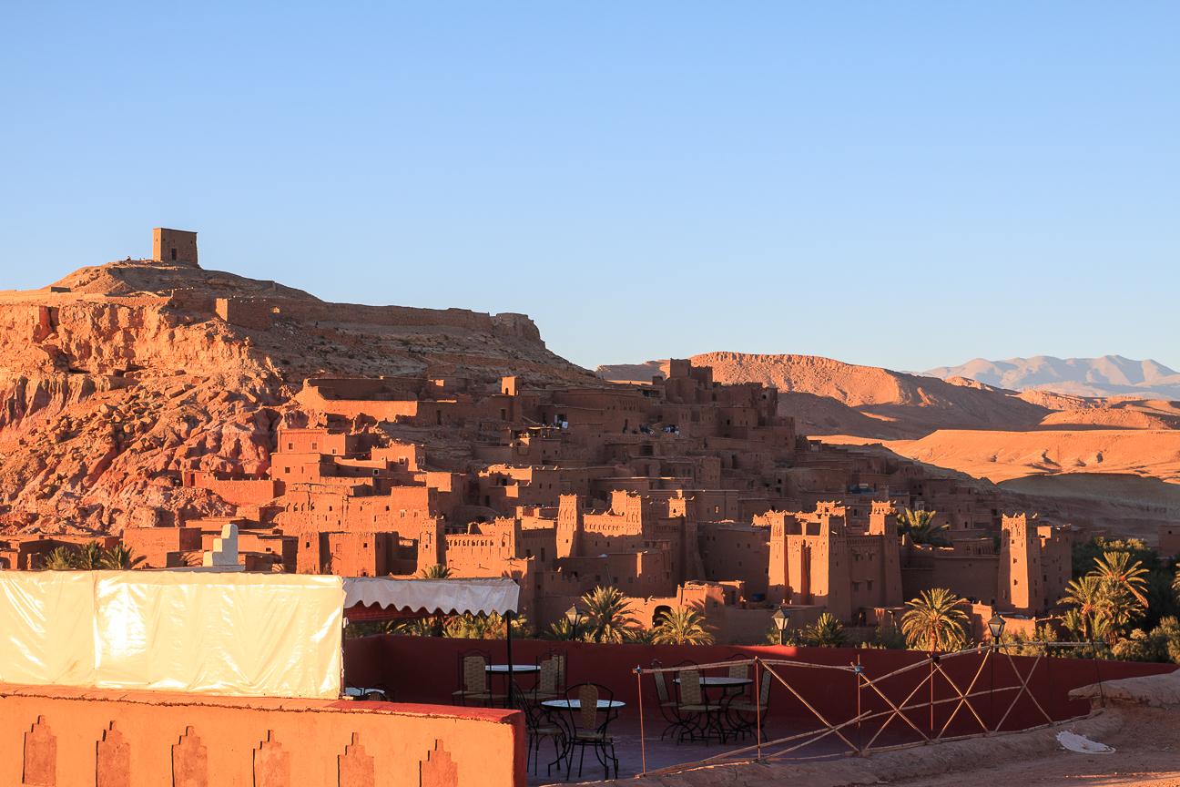 Nuestra terraza en Ait Ben Haddou
