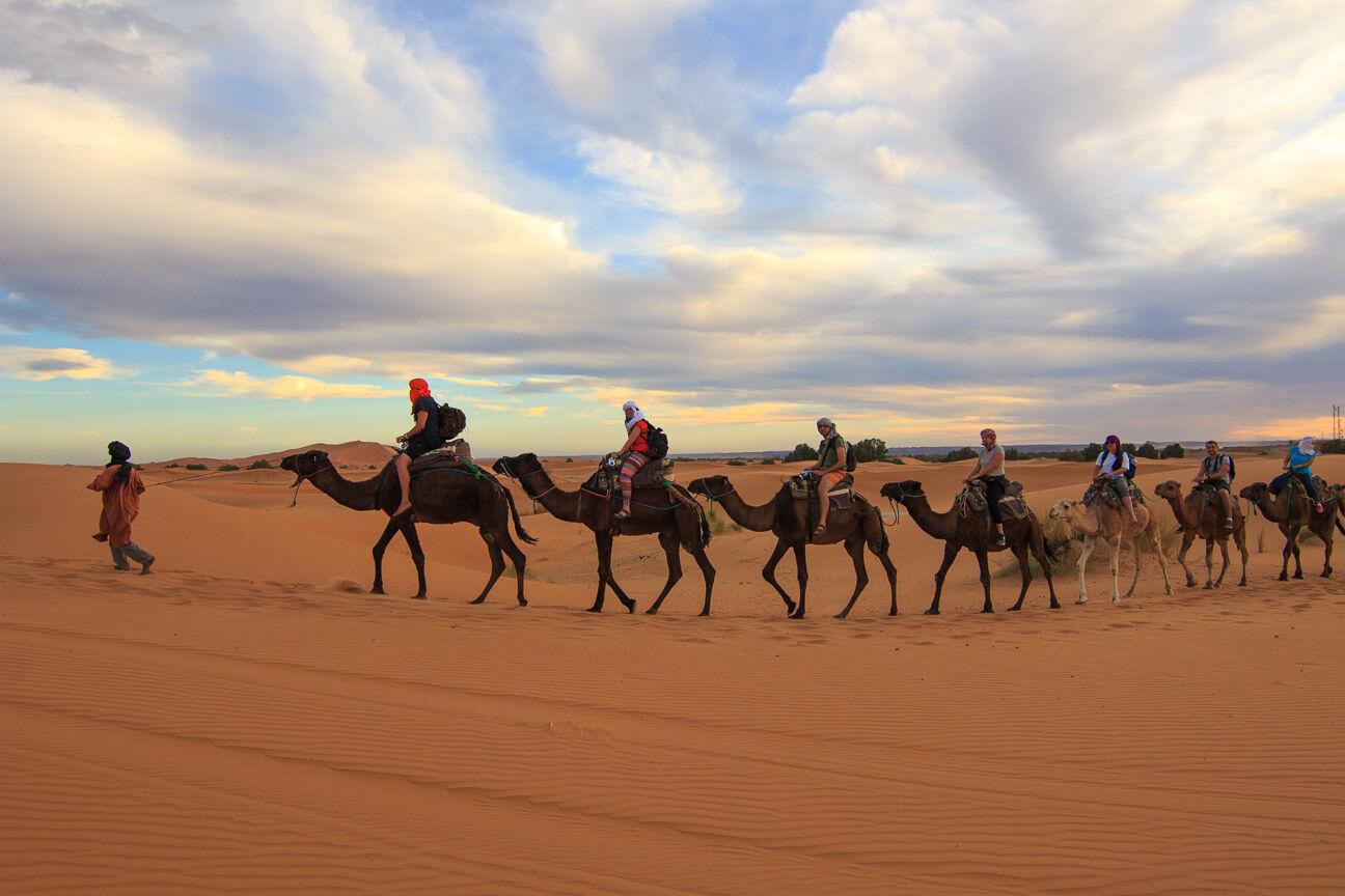 Nuestra caravana en el desierto