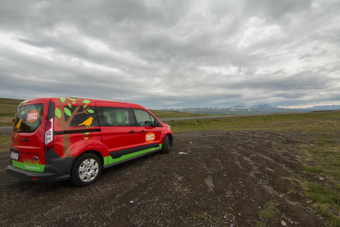 Nuestra furgo en Islandia