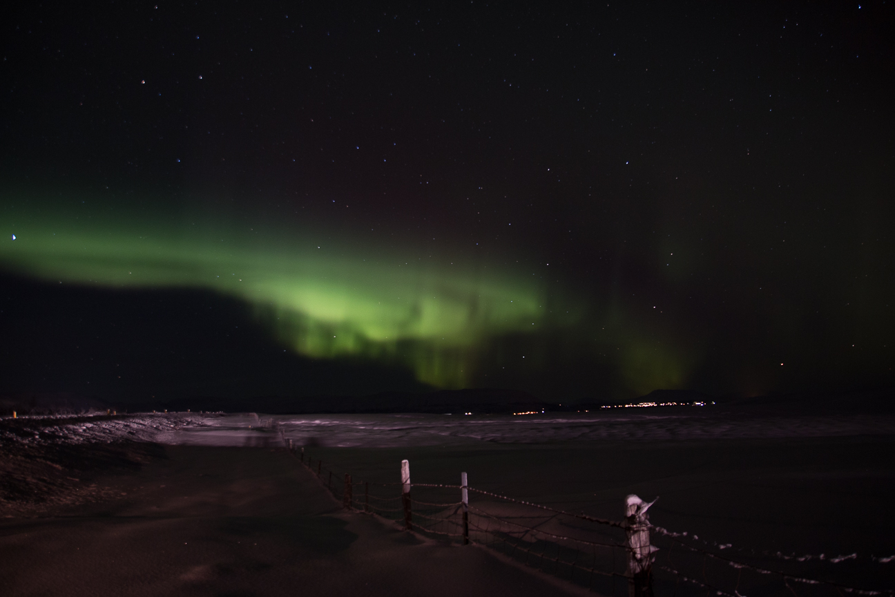 aurora boreal blanca