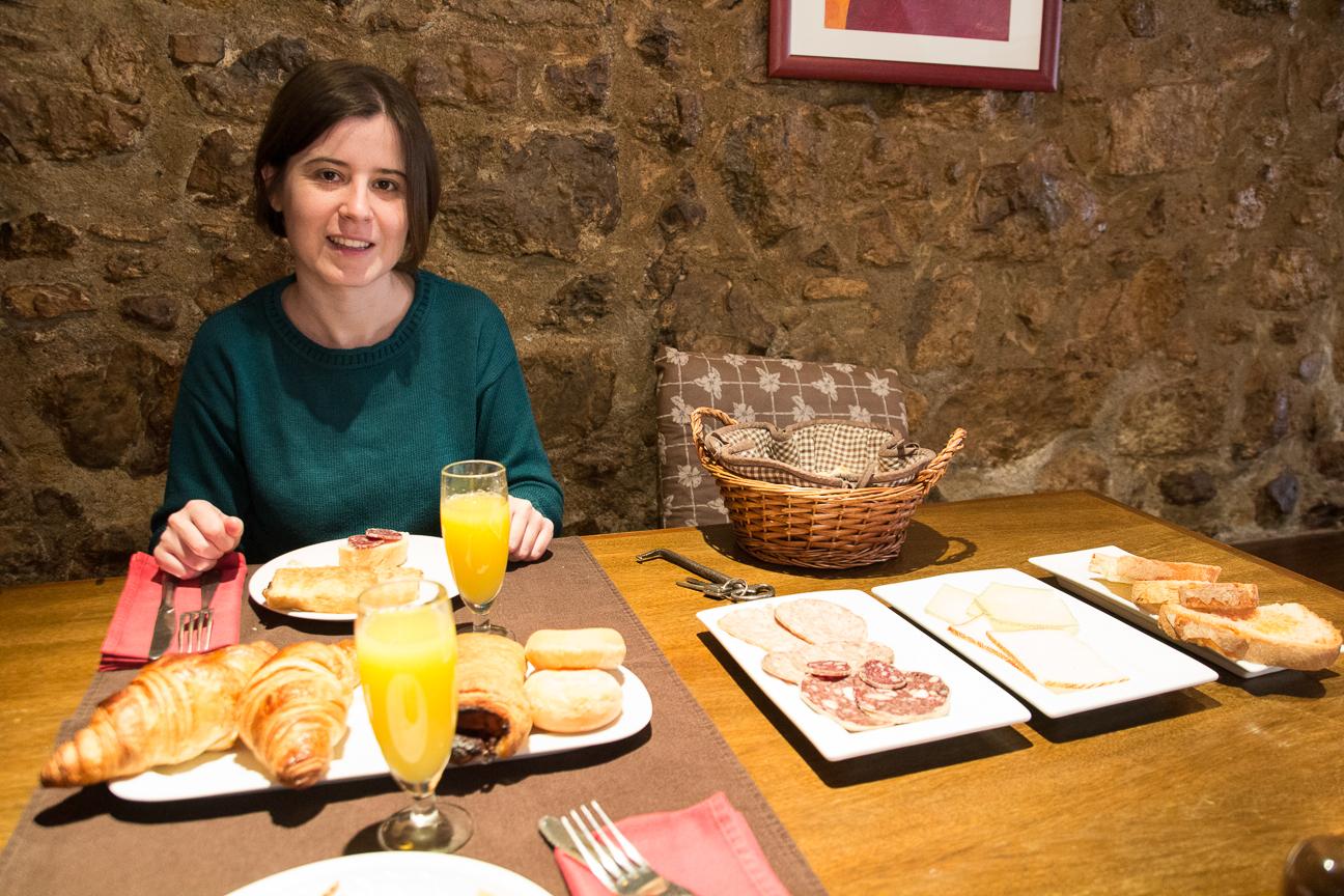 Nuestro desayuno en la casa rural