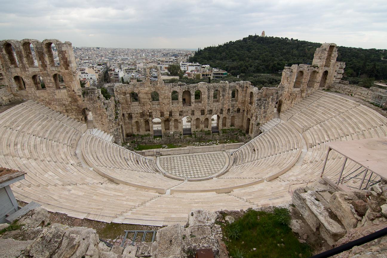 Odeon de Herodes Atico en Atenas