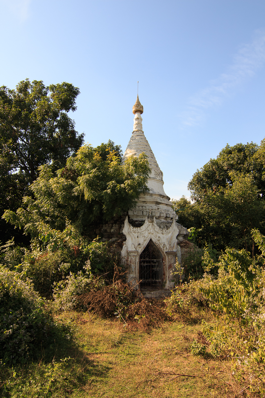 Pagoda entre la maleza