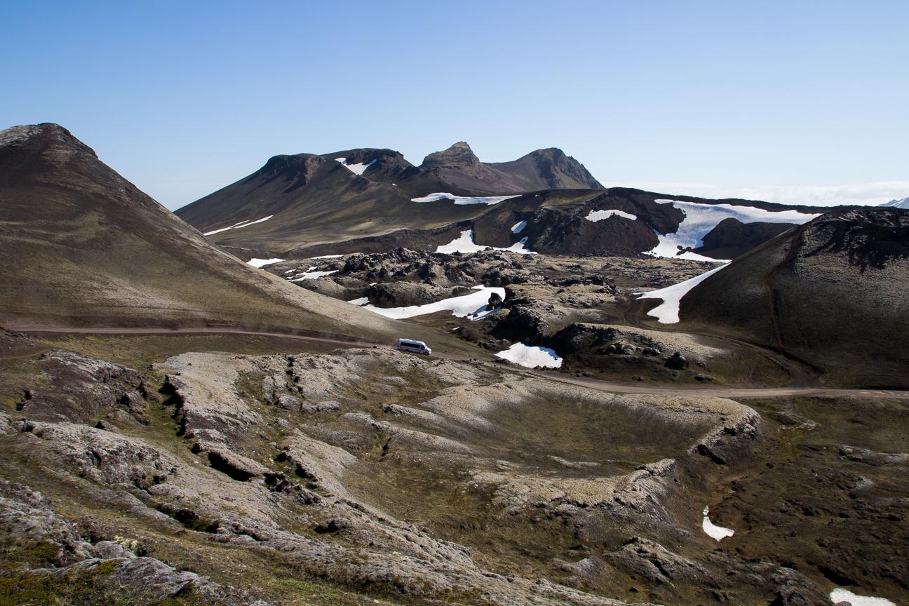 Paisajes volcanicos en las tierras altas