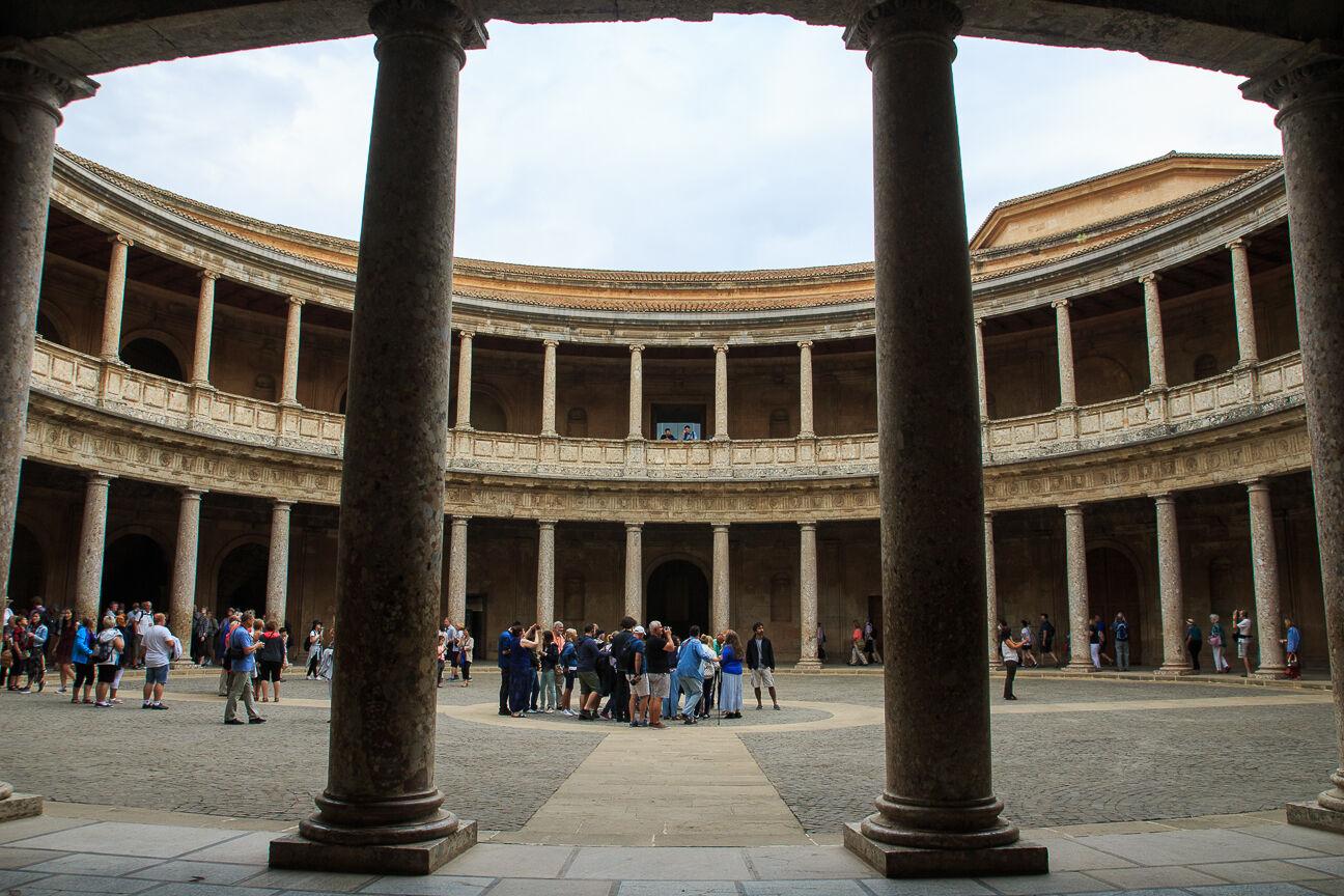 Palacio circular de Carlos V en la Alhambra