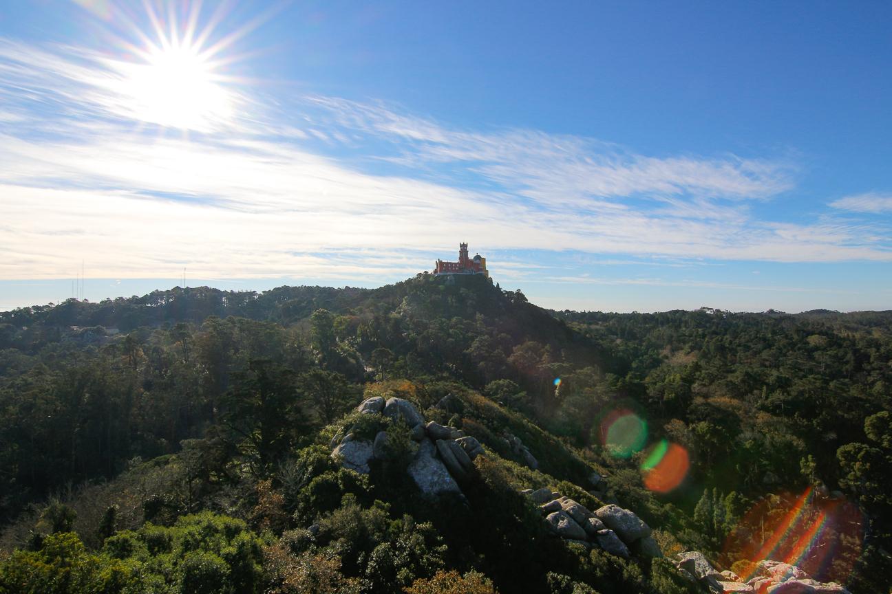 Palacio da Pena desde Castillo dos Moros