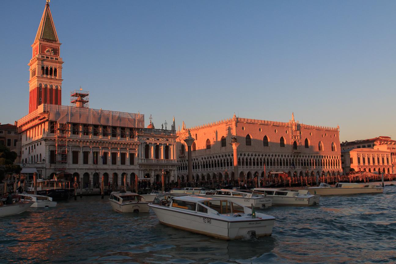 Palacio ducal visto desde el vaporetto
