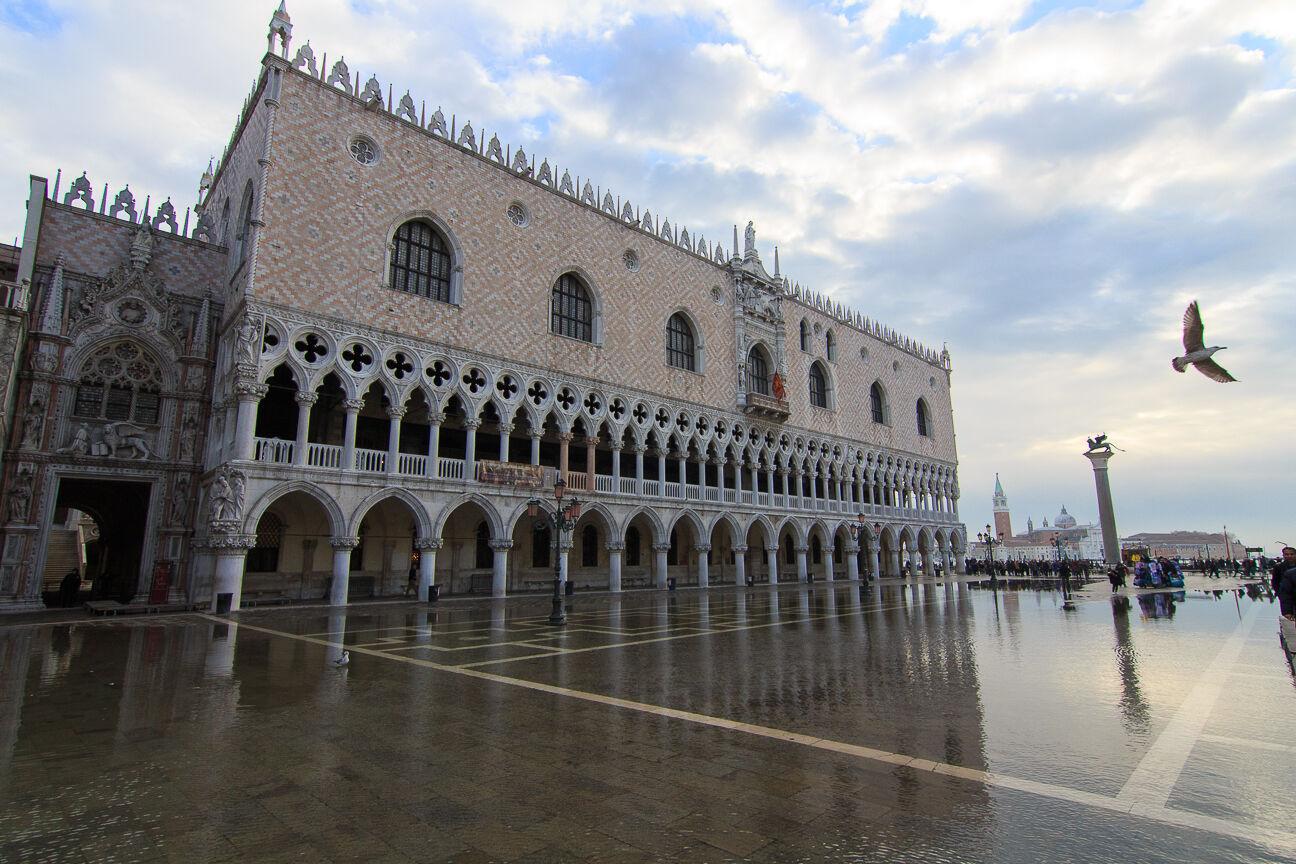 Palacio Ducale con el Acqua alta