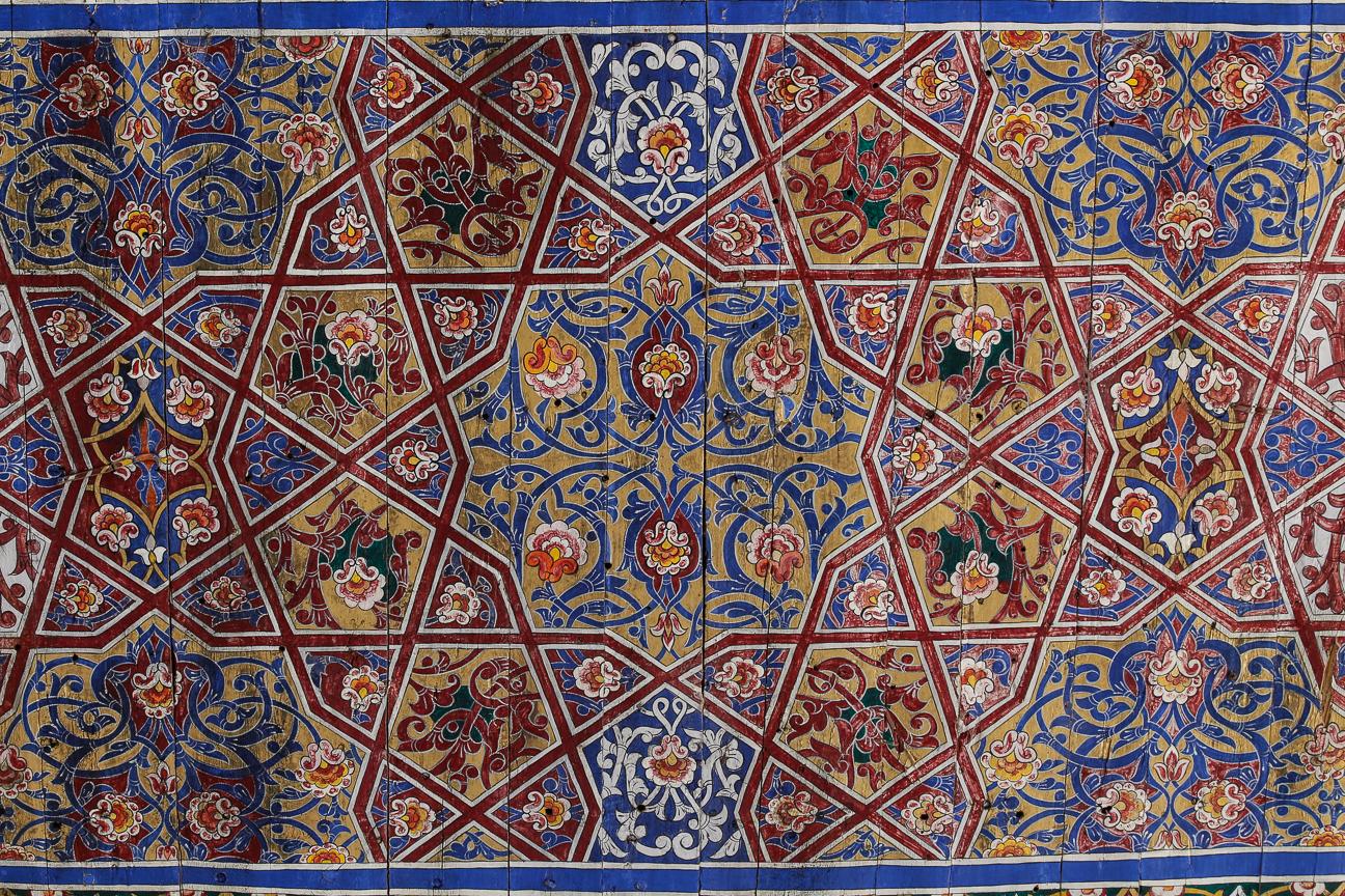 Palacio Tash Khauli en Khiva techos