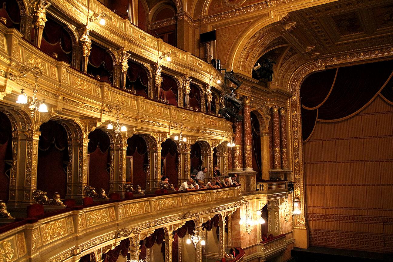 Palcos de la Opera de Budapest