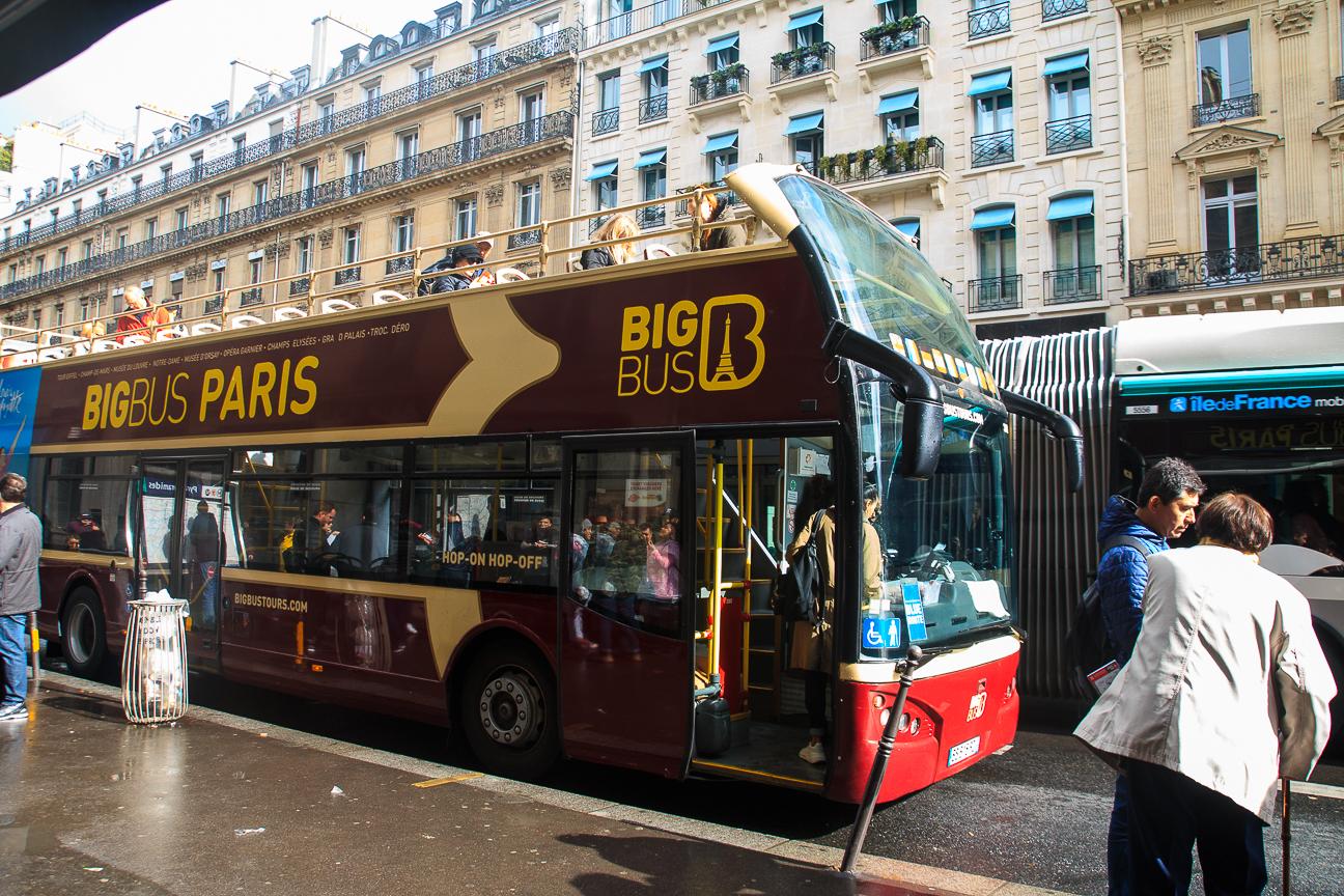 Parada principal bus turistico Paris