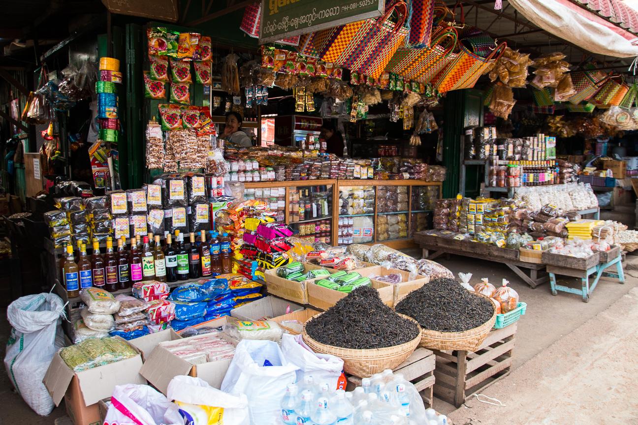 Parada de mercado en Kalaw