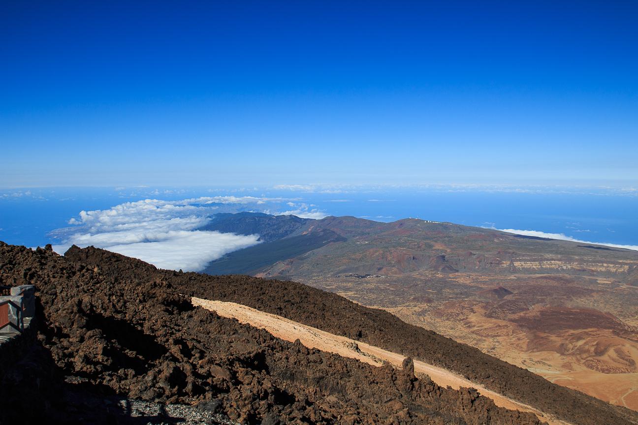 Parte norte de Tenerife vista desde el Teide