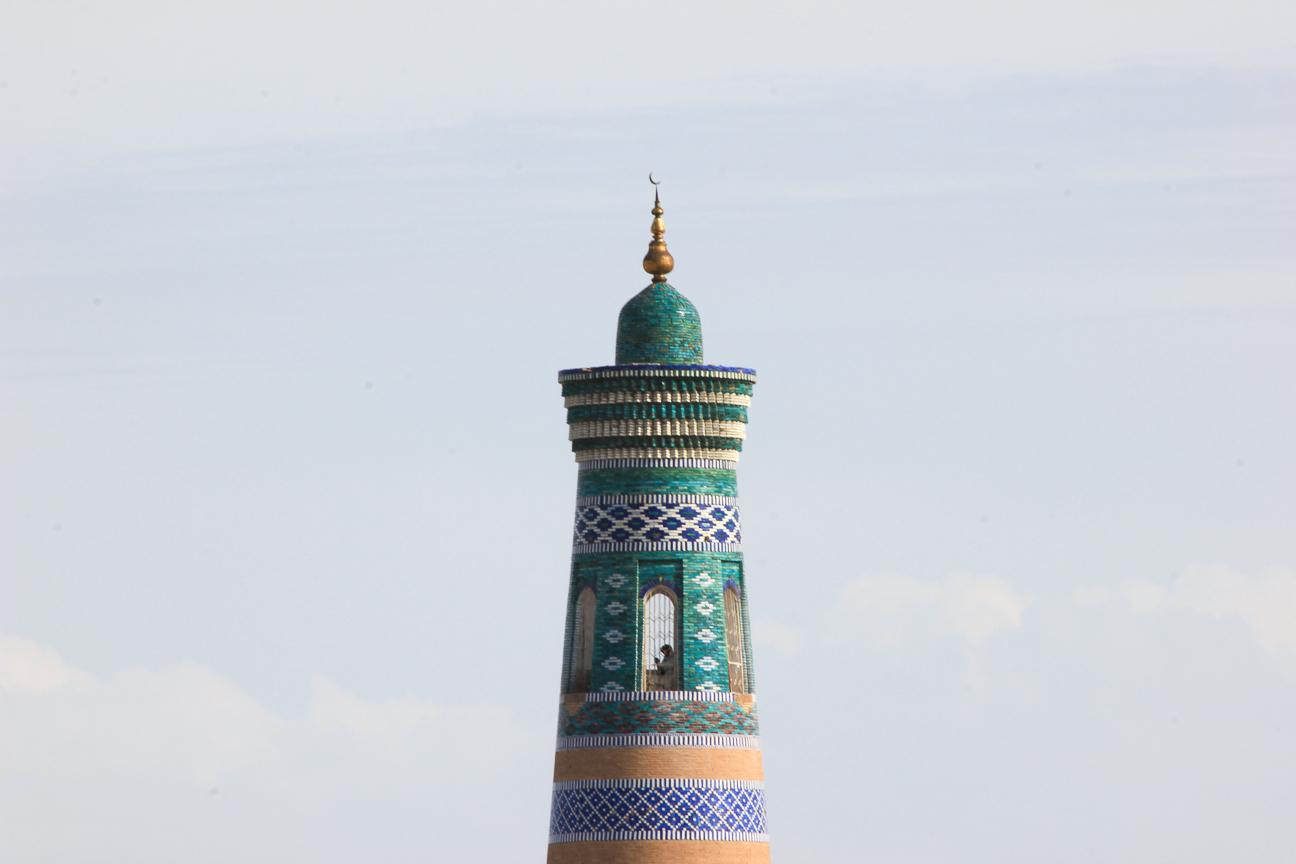 Parte superior minarete Islam Khoja