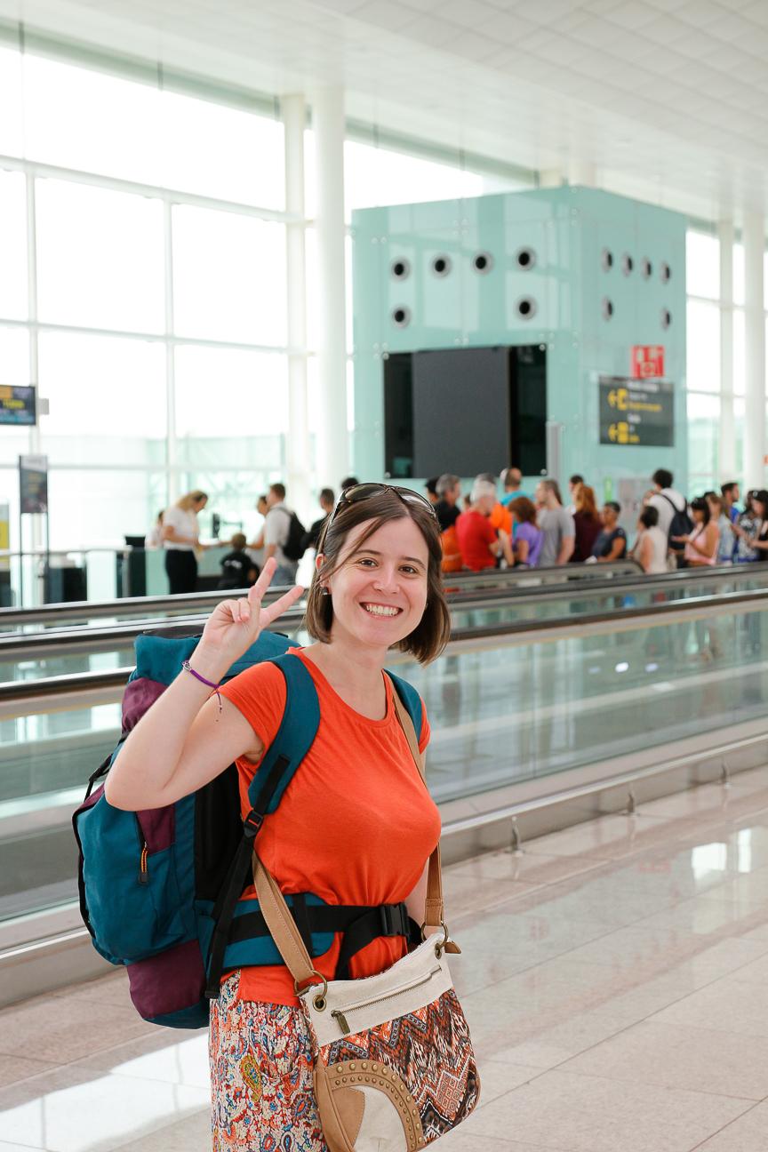 Paseando por el aeropuerto de Barcelona