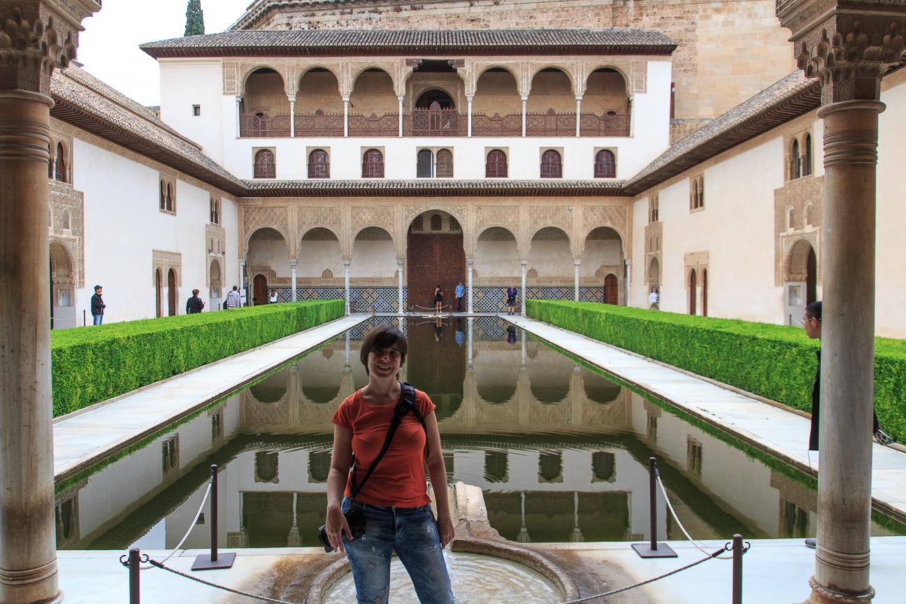 Patio central en uno de los palacios nazaries