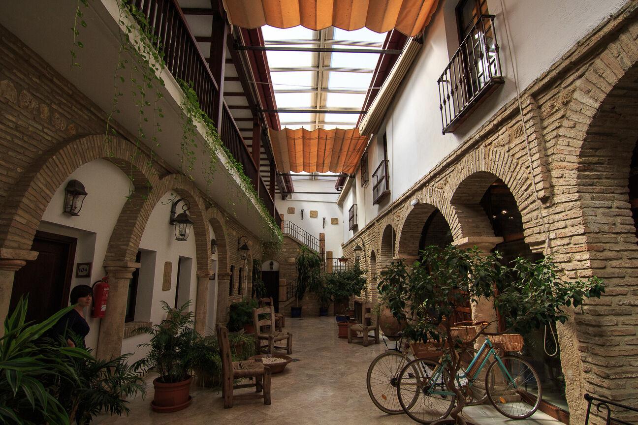 Patio del Hotel Hacienda Posada Vallina en Cordoba