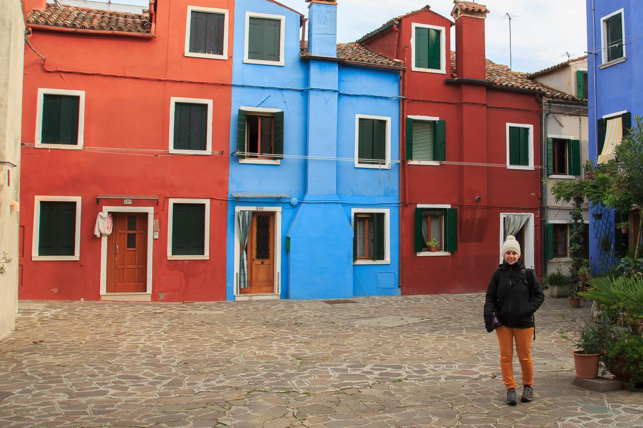 Patio de colores en Burano