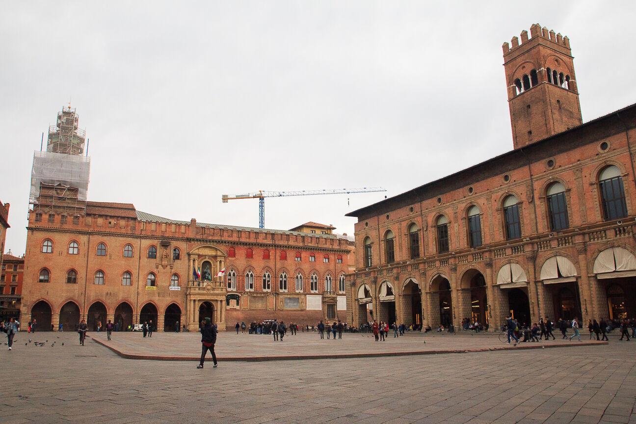 Piazza Maggiore en Bolonia