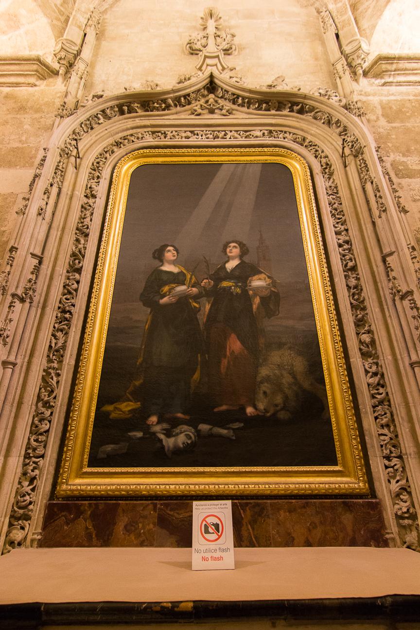 Pintura de Goya en la Catedral de Sevilla