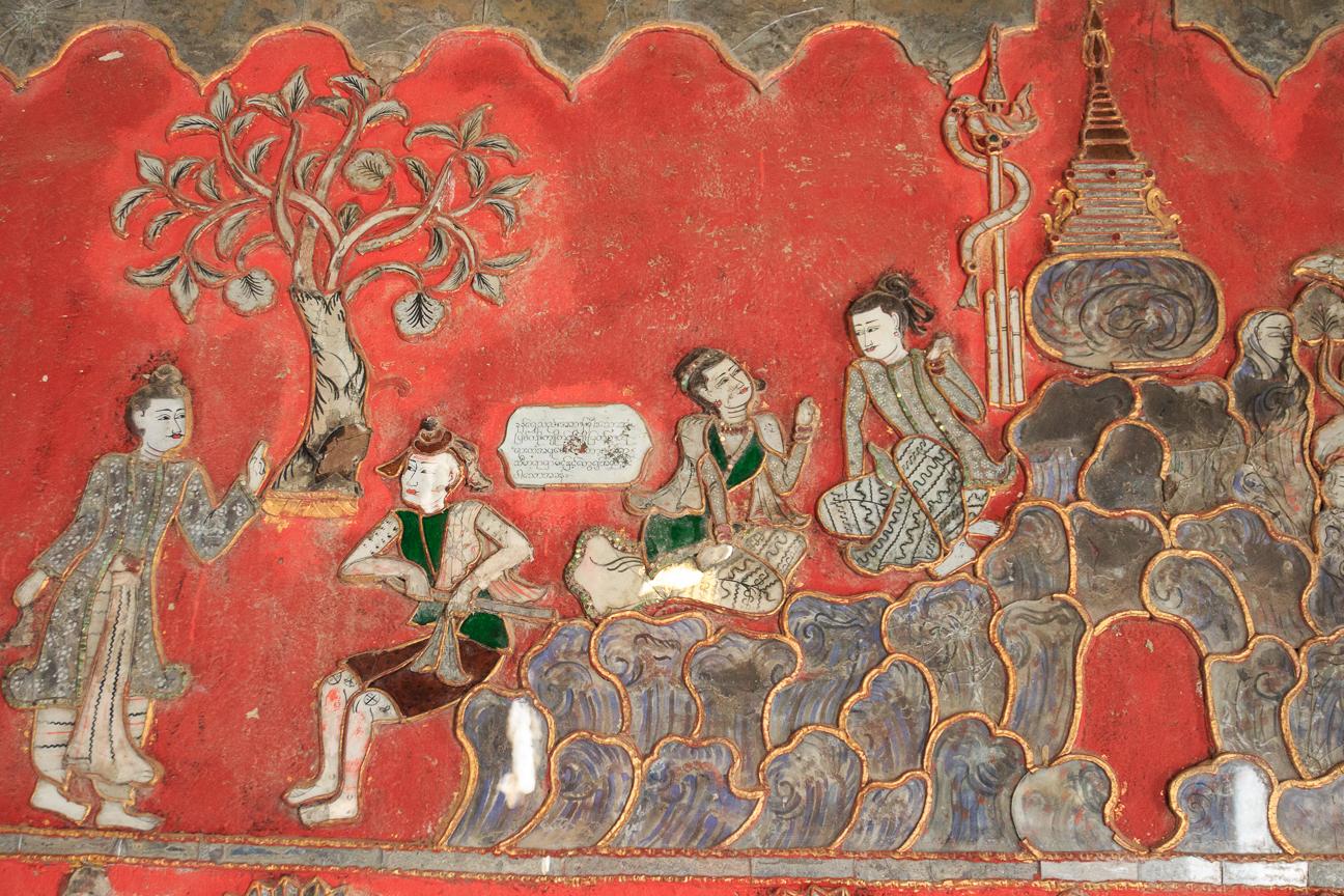 Pinturas y relieves en el monasterio de Tekka
