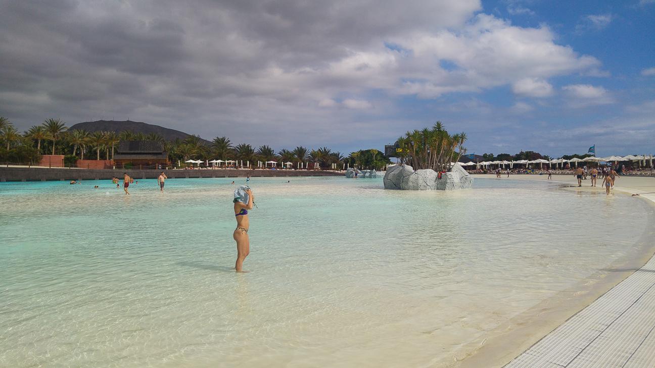Playa de relax en Siam Park