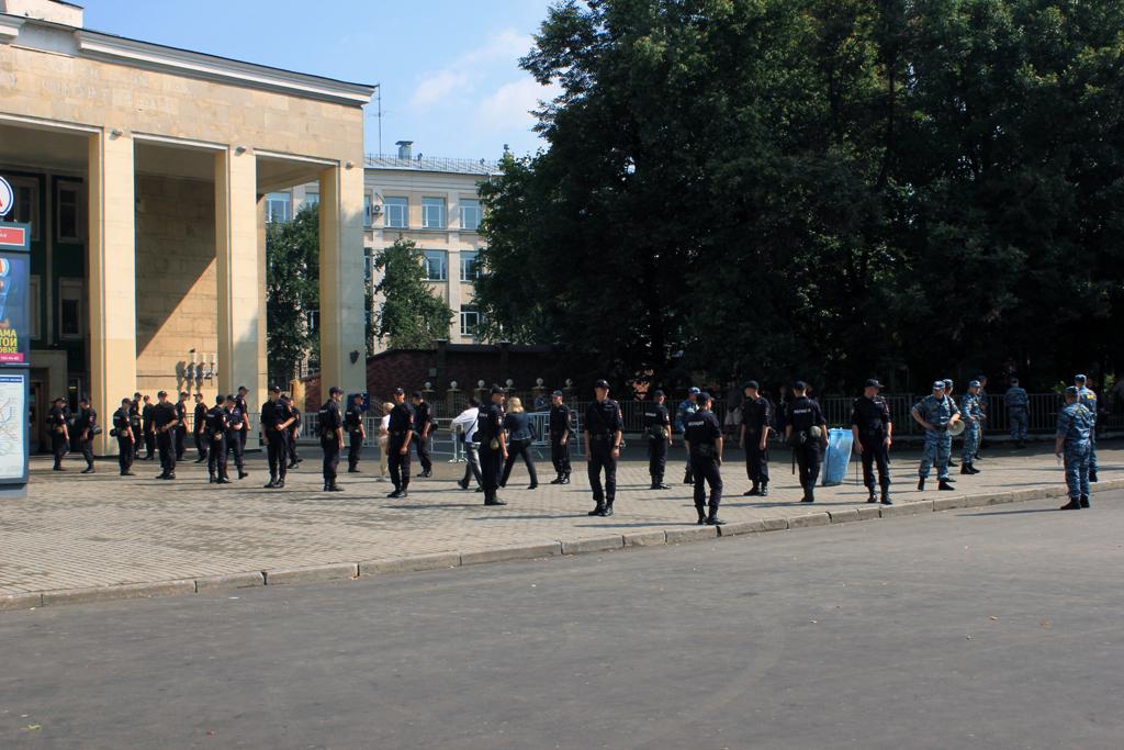 Policias en Moscu