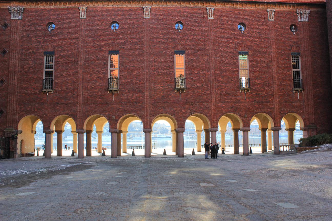 Porche ayuntamiento de Estocolmo