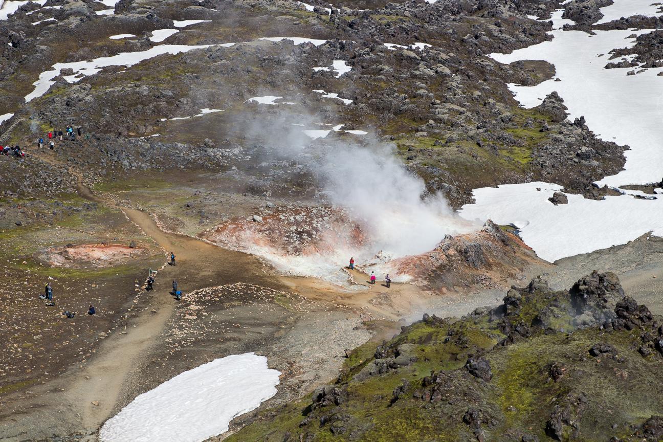 Pozas de azufre en Landmannalaugar