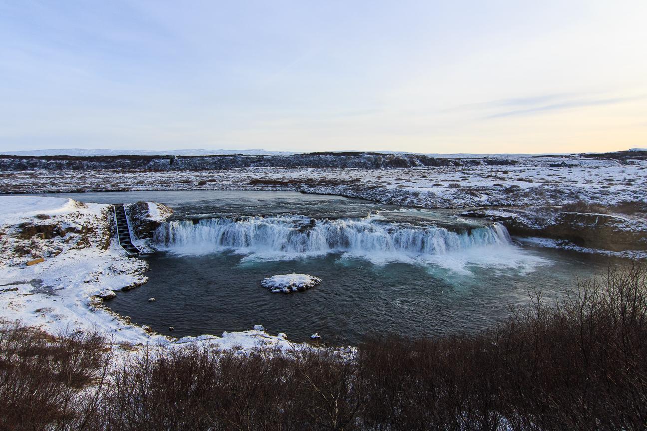 preciosa catarata en Islandia