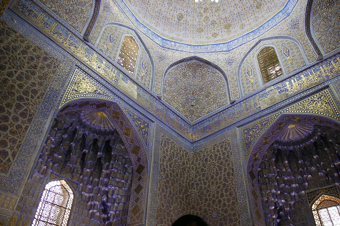 Preciosas paredes en la tumba de Gur-e-Amir