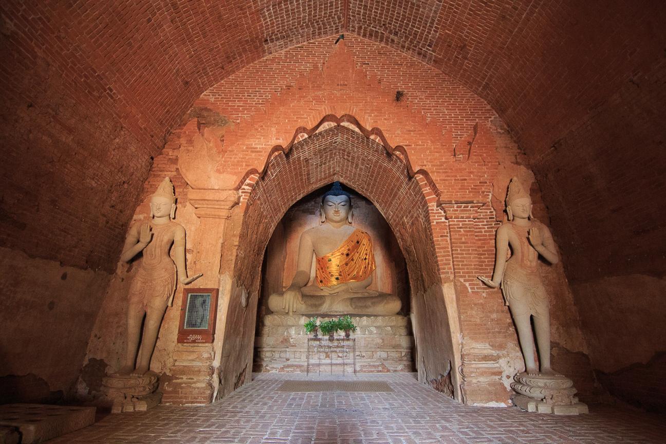 Precioso interior de un templo que nos abrieron