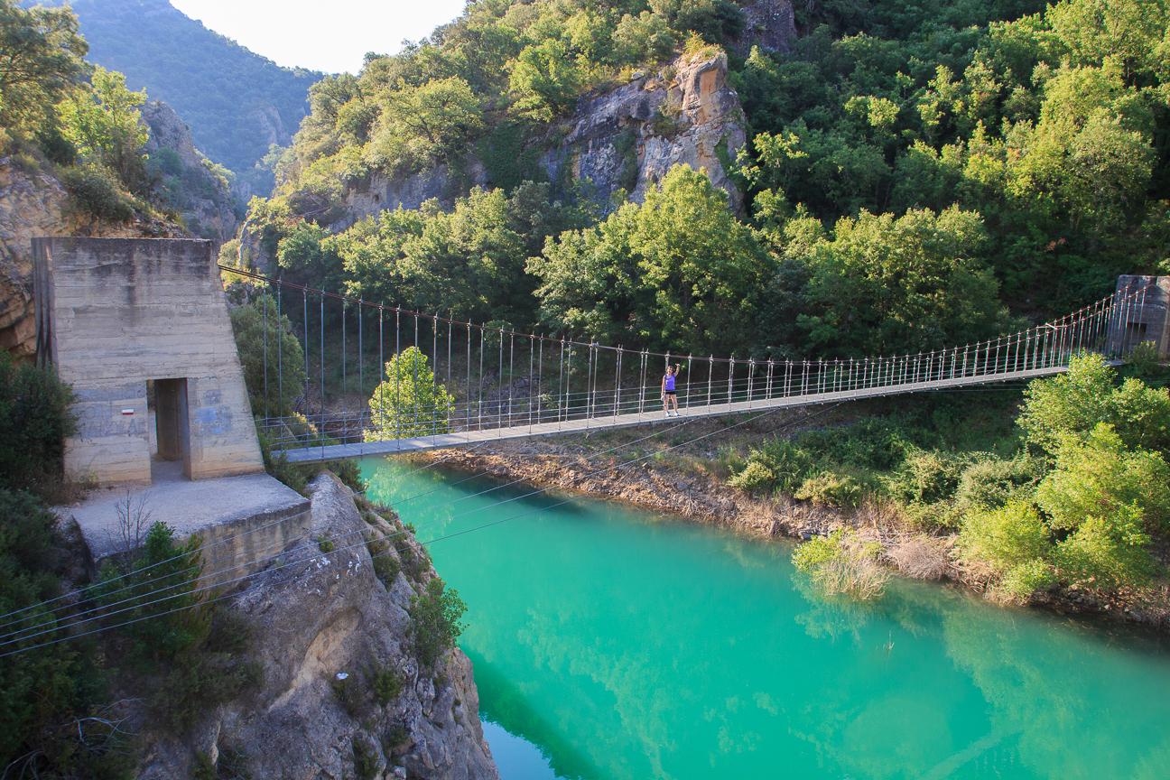Primer puente en Mont Rebei