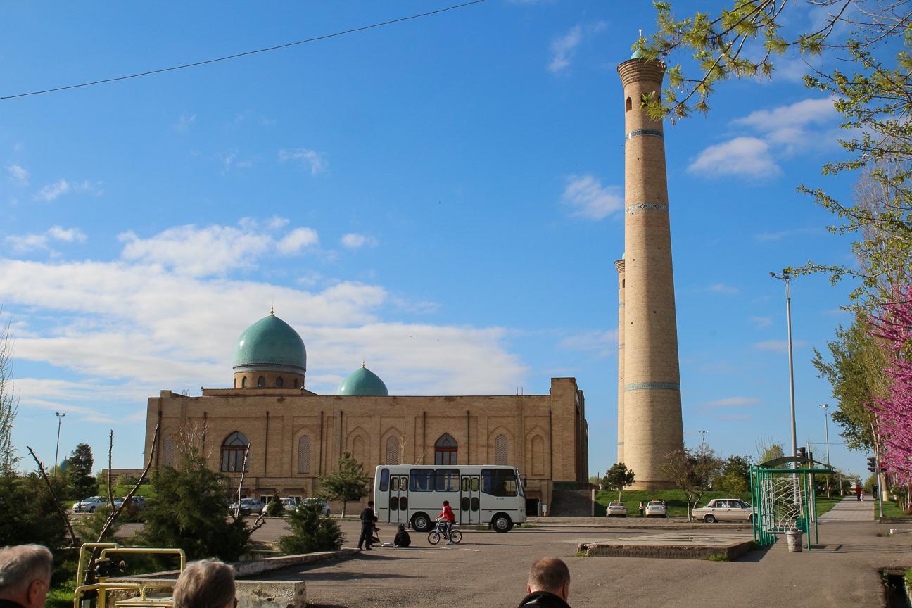 Primera vista del complejo Hazrat Imam