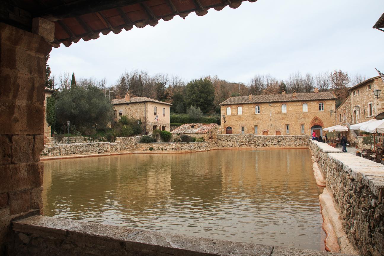Pueblos de la Toscana Bagno Vignoni