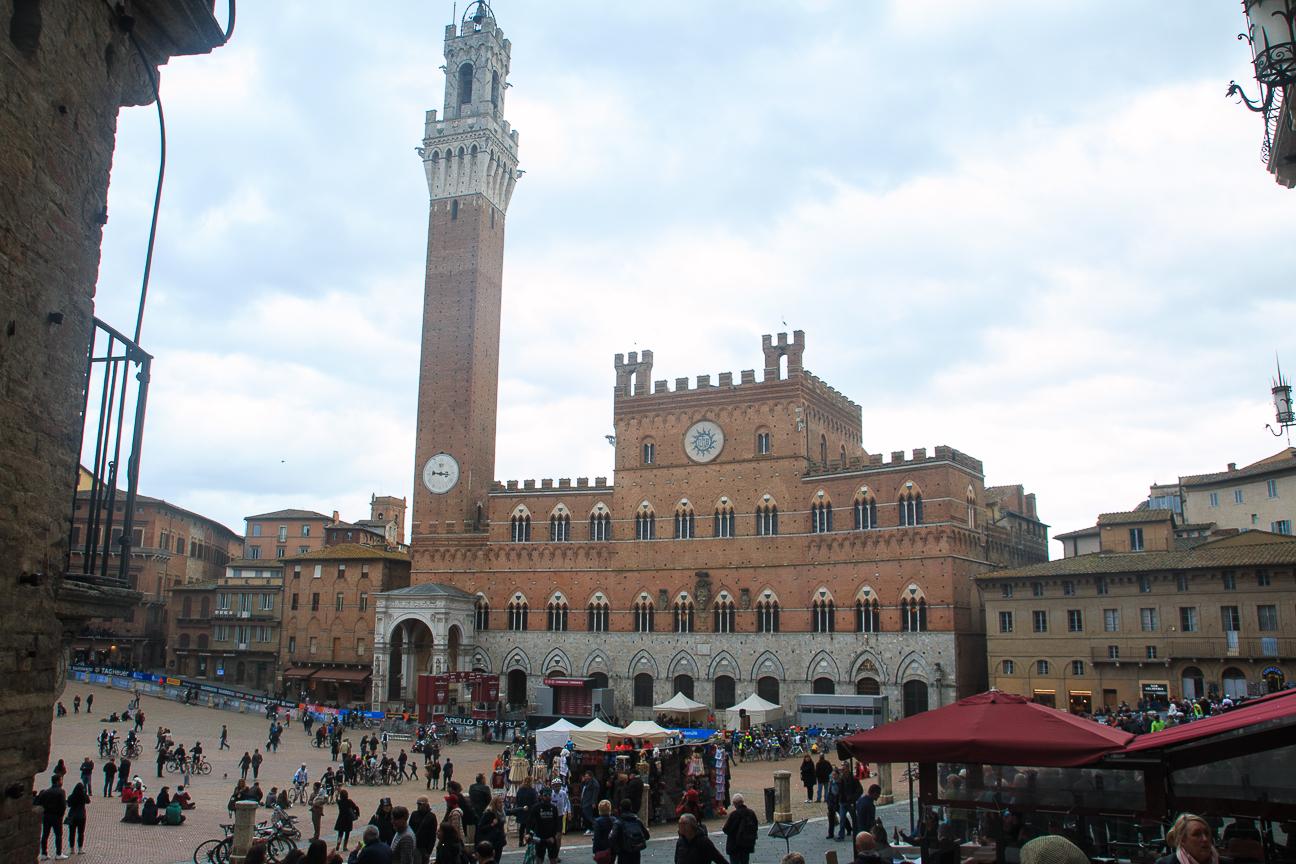 Pueblos de Toscana Siena Plaza Palio