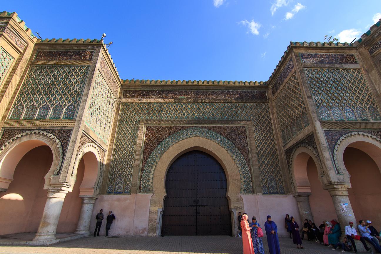 Puerta bab-el-monsour meknes marruecos marroc
