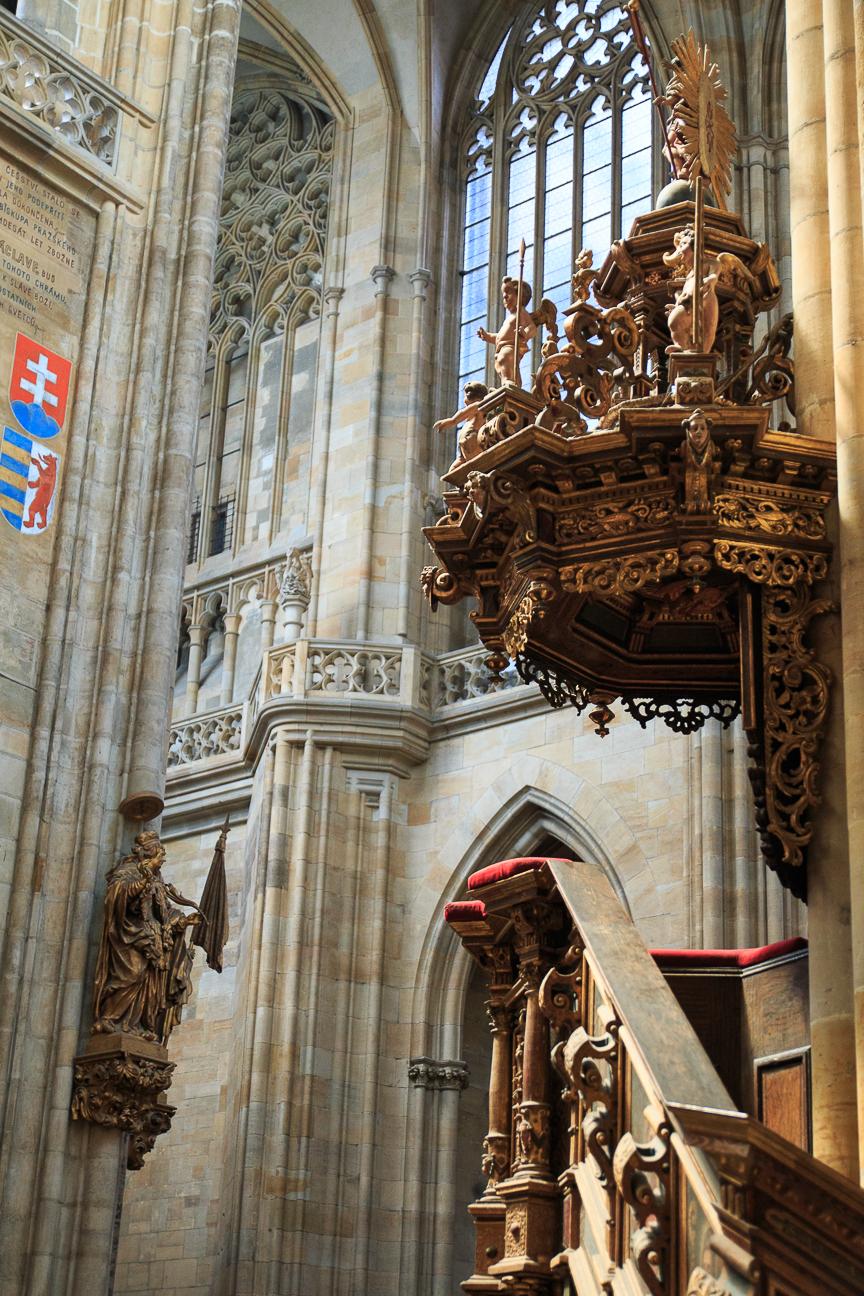 Pulpito de la Catedral de San Vito en Praga
